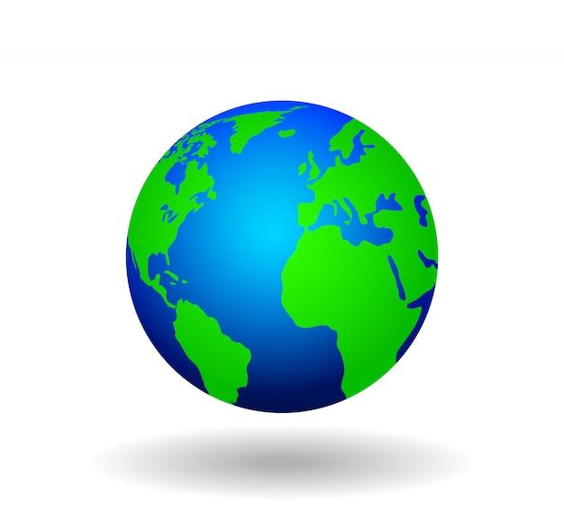 Mapa świata na białym tle