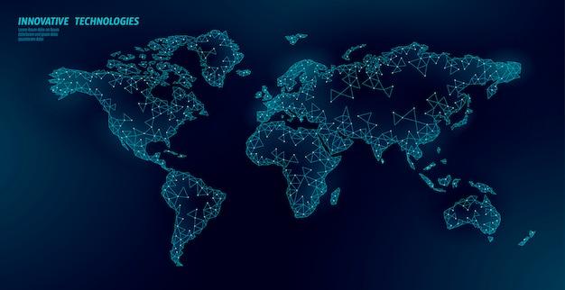 Mapa świata planeta ziemia globalne połączenie biznesowe.