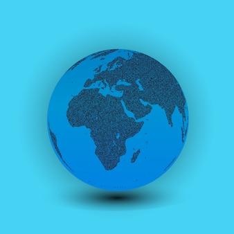 Mapa świata w kształcie kuli ziemskiej
