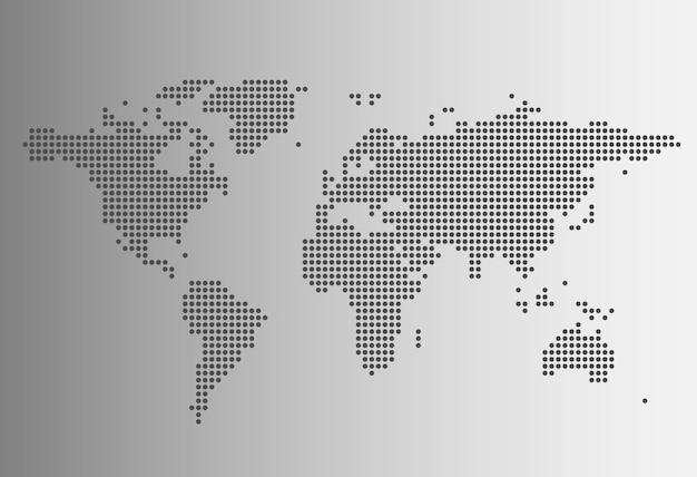 Mapa świata w stylu kropkowanym
