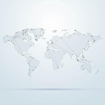 Mapa świata w tle