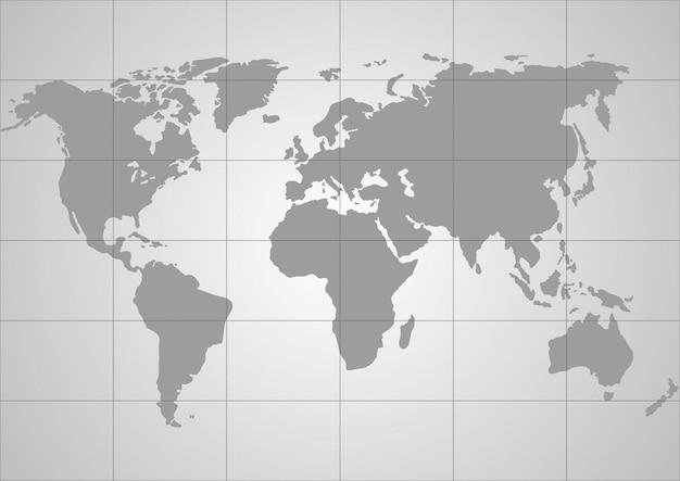 Mapa świata wektor