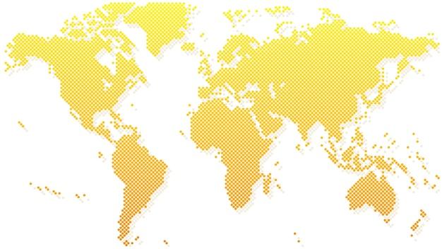 Mapa świata złota półtonów