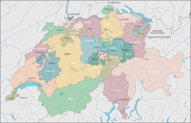 Mapa szwajcarii