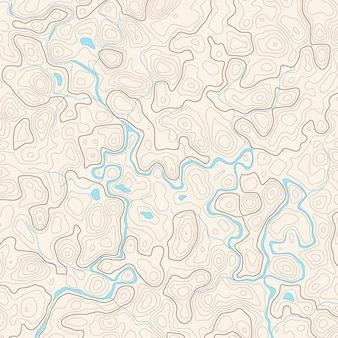Mapa topografii streszczenie wektor z rzeką i jeziorami