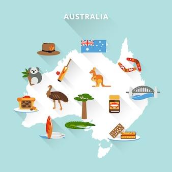Mapa turystyczna australii