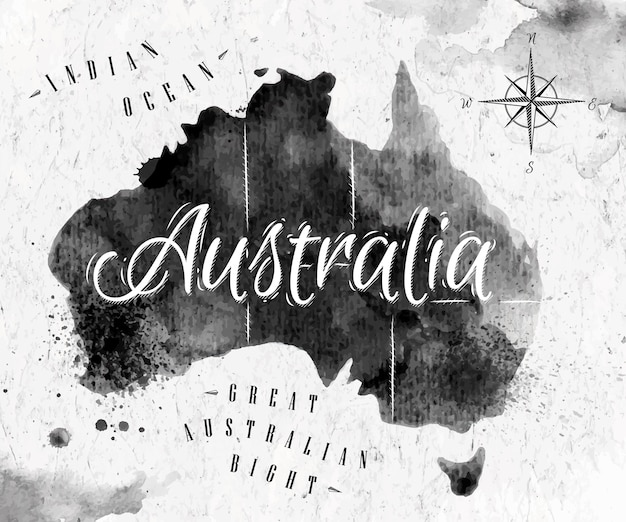 Mapa tuszu australia