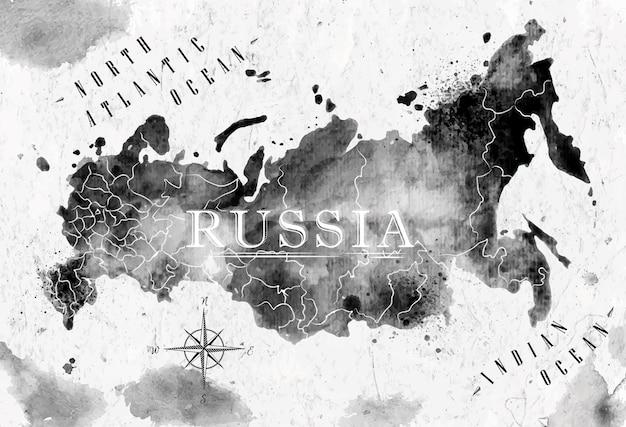 Mapa tuszu rosja