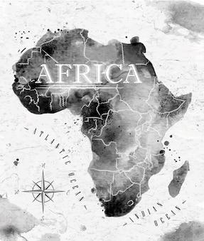 Mapa tuszu w afryce