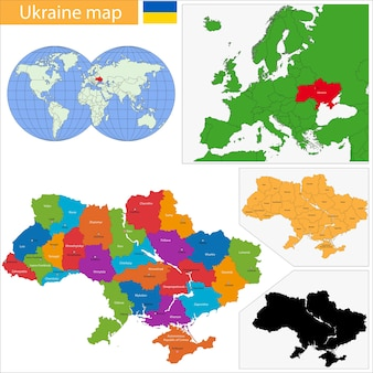 Mapa ukrainy