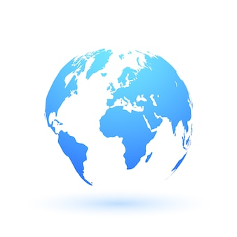 Mapa współczesnego świata.