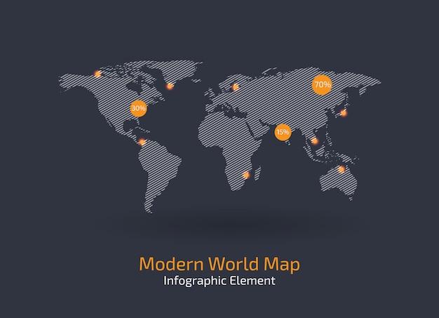 Mapa współczesnego świata