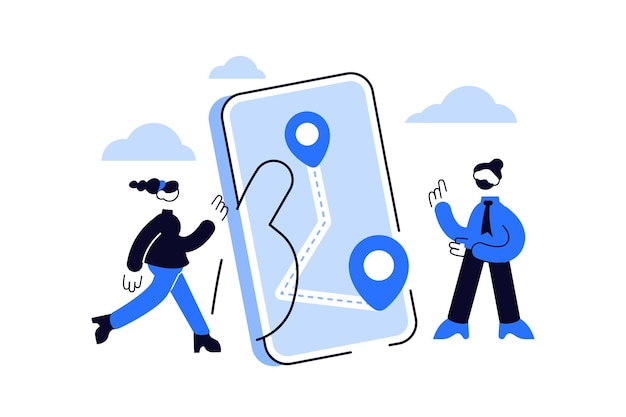 Mapuj aplikację do nawigacji gps dla nowoczesnych gadżetów