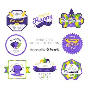 Mardi gras odznakę kolekcji