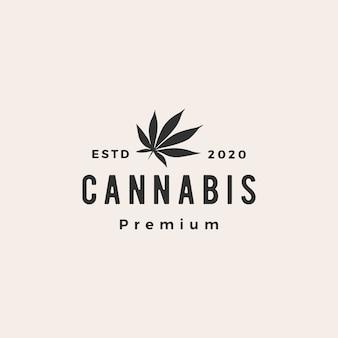 Marihuana modnisia rocznika loga ikony ilustracja