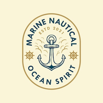 Marine nautical logo