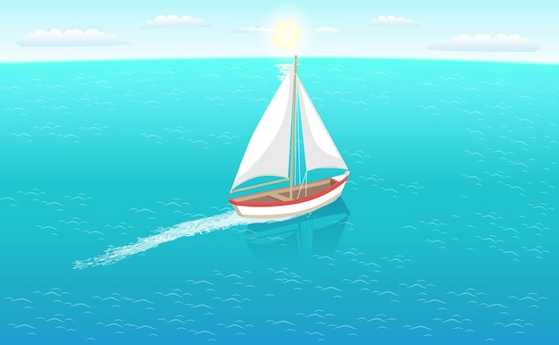 Marine nautical personal fishing ship sail boat