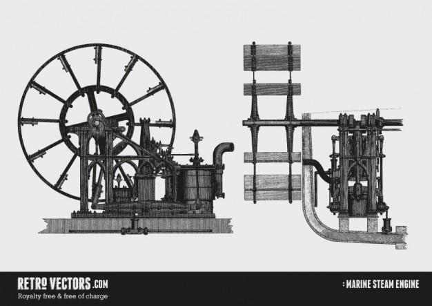 Marine silnik parowy