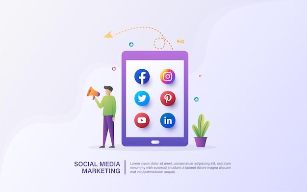 Marketerzy promują produkty w mediach społecznościowych