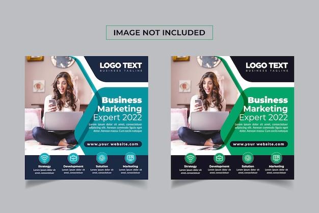 Marketing biznesowy baner mediów społecznościowych online