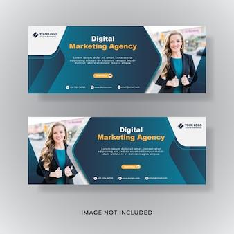 Marketing biznesowy facebook obejmuje baner postu w mediach społecznościowych