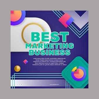 Marketing biznesowy kwadratowy szablon ulotki