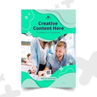 Marketing biznesowy pionowy szablon plakatu