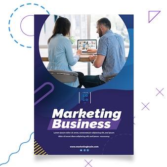 Marketing biznesowy plakat szablon wydruku