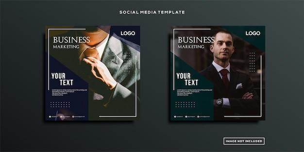 Marketing biznesowy post w mediach społecznościowych