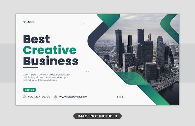Marketing biznesowy projekt banera internetowego
