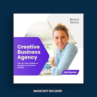 Marketing biznesowy w mediach społecznościowych post i baner