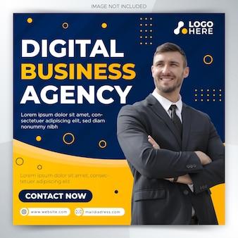 Marketing cyfrowy biznesowy szablon transparentu w mediach społecznościowych