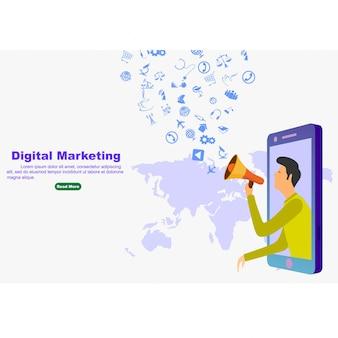 Marketing cyfrowy dla banerów i stron internetowych