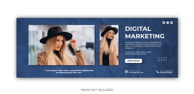 Marketing cyfrowy i korporacyjne posty w mediach społecznościowych i szablon projektu banerów internetowych