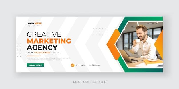 Marketing cyfrowy i korporacyjny szablon projektu banera w mediach społecznościowych