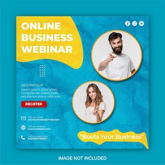 Marketing cyfrowy i korporacyjny szablon projektu postów w mediach społecznościowych