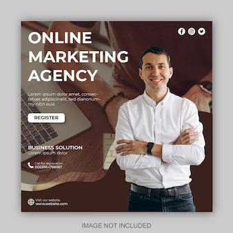 Marketing cyfrowy i nowoczesny szablon projektu postów w mediach społecznościowych