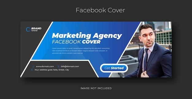 Marketing cyfrowy korporacyjne media społecznościowe facebook szablon banera internetowego