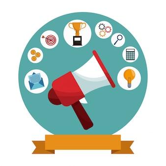 Marketing cyfrowy megafon mediów społecznościowych