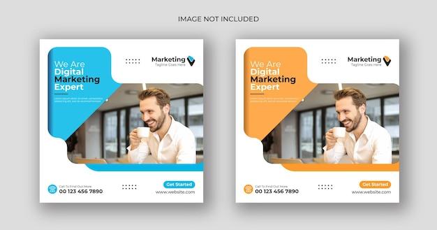 Marketing cyfrowy szablon postu w mediach społecznościowych
