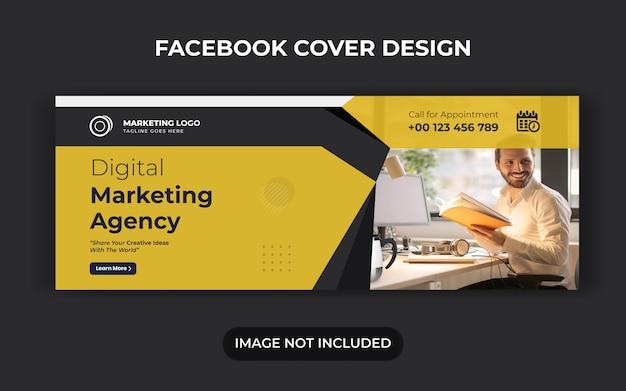 Marketing cyfrowy w mediach społecznościowych post i baner internetowy lub projekt ulotki