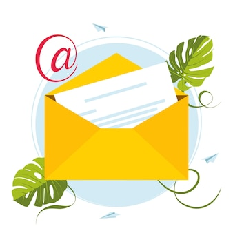 Marketing e-mailowy. skrzynka pocztowa i koperty otoczone powiadomieniami ikonami. koncepcja e-mail reprezentowana przez ikonę koperty i skrzynki pocztowej. post w skrzynce pocztowej pełen listów i informacji o spamie. bombardowanie e-mailem.