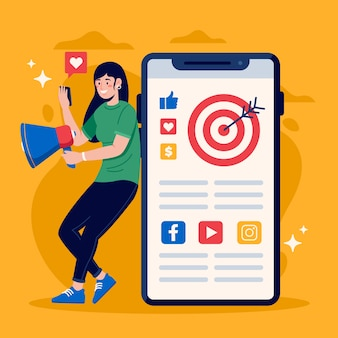 Marketing w mediach społecznościowych na temat telefonu