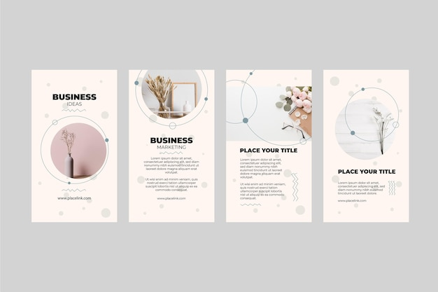 Marketingowa Kolekcja Opowiadań Na Instagramie Premium Wektorów