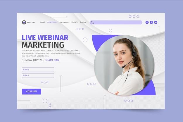 Marketingowa strona docelowa firmy
