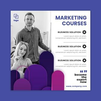 Marketingowa ulotka biznesowa do kwadratu