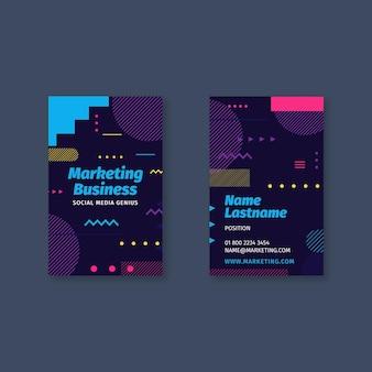 Marketingowa Wizytówka Biznesowa Dwustronna Premium Wektorów