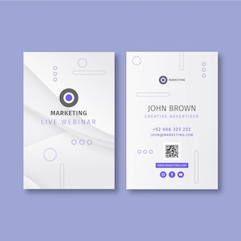 Marketingowa wizytówka biznesowa dwustronna