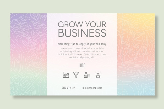 Marketingowy baner biznesowy