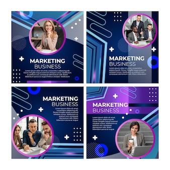 Marketingowy biznesowy szablon postów na instagramie